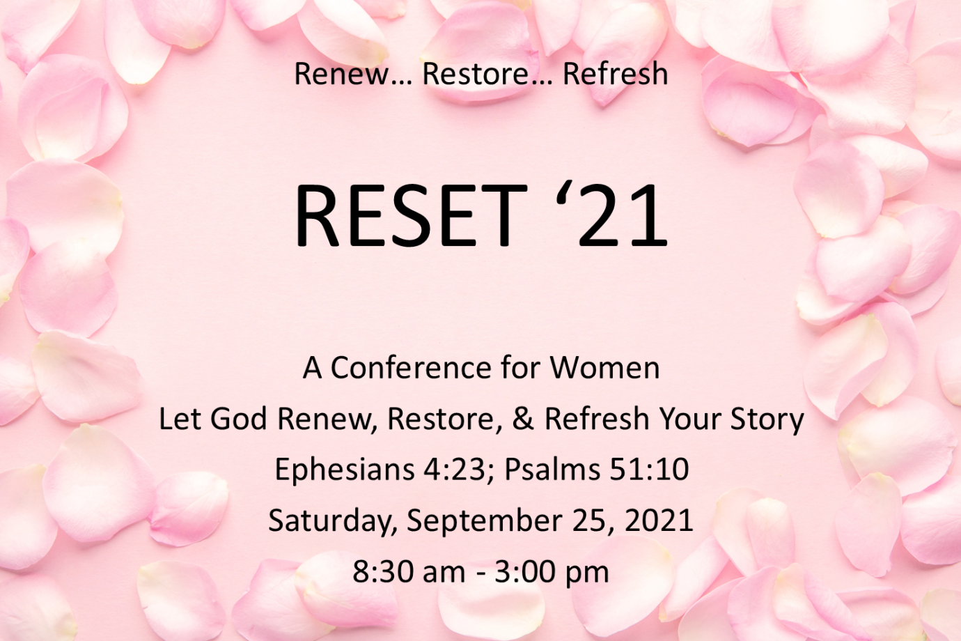 Reset 21: A Women's Conference